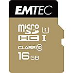 Carte mémoire EMTEC Gold 16 Go microSDHC