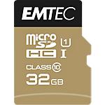 Carte mémoire EMTEC Gold 32 Go microSDHC