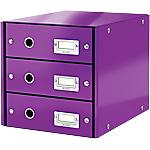 Module de classement Leitz WOW Click&Store 28,6 x 35,8 x 28,2 cm Violet
