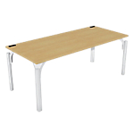 Bureau droit 4You 1 800 x 800 x 720 mm Imitation hêtre, blanc