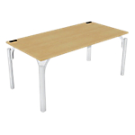 Bureau droit 4You 1 600 x 800 x 720 mm Imitation hêtre, blanc