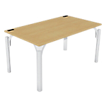 Bureau droit 4You 1 400 x 800 x 720 mm Imitation hêtre, blanc