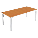 Bureau droit 4You 1 800 x 800 x 720 mm Imitation poirier, blanc