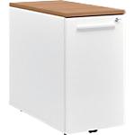 Caisson mobile hauteur de bureau Gautier Office TopLine 420 x 800 x 740 mm Imitation merisier, blanc