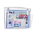 Corbeille murale CEP Magnétique A3 Transparent 27 (H) x 36,1 (l) x 8,6 (P) cm Transparent
