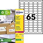 Étiquettes adresses recyclées Avery Blanc 6 500