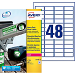 Étiquettes ultra résistantes Avery L4778 20 Blanc 45,7 x 21,2 mm 48 Feuilles de 20 Étiquettes