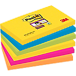 Notes adhésives Post it 127 x 76 mm Super Sticky Assortiment   6 Unités de 90 Feuilles