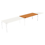 Bureau droit juxtaposable 4You 1 800 x 800 x 720 mm Imitation poirier, blanc