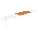 Bureau droit juxtaposable 4You 1 600 x 800 x 720 mm Imitation poirier, blanc