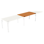 Bureau droit juxtaposable 4You 1 400 x 800 x 720 mm Imitation poirier, blanc