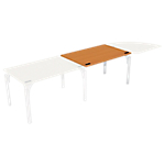 Bureau droit juxtaposable 4You 1 200 x 800 x 720 mm Imitation poirier, blanc