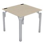 Bureau droit 4You 80 (l) x 80 (P) x 72 (H) cm Imitation chêne, gris aluminium