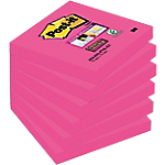 Notes adhésives Post it 76 x 76 mm Rose   6 Unités de 90 Feuilles