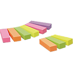 Index repositionnables Post it 670P63 1,5 x 5 cm Assortiment   9 Unités de 100 Bandes