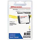 Cartouche jet d'encre Office Depot Compatible Epson 16XL Jaune
