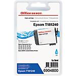 Cartouche jet d'encre Office Depot Compatible Epson 18XL Cyan T181240