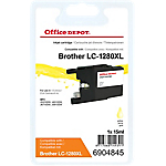 Cartouche jet d'encre Office Depot Compatible Brother LC1280XLY Jaune