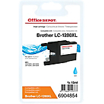 Cartouche jet d'encre Office Depot Compatible Brother LC1280XLC Cyan