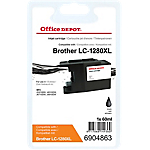 Cartouche jet d'encre Office Depot Compatible Brother LC1280XLBK Noir