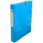 Boites de classement à élastique Exacompta 350 feuilles Iderama 25 x 4 x 33 cm Bleu
