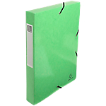 Boites de classement à élastique Exacompta 350 feuilles Iderama 33 (H) x 25 (l) cm Vert