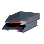 Corbeilles à courrier DURABLE VARICOLOR A4+ Gris, rouge   2 Unités