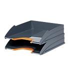 Corbeilles à courrier DURABLE VARICOLOR A4+ Gris, orange   2 Unités