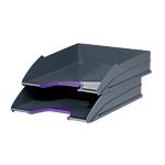 Corbeilles à courrier DURABLE VARICOLOR A4+ Gris, violet   2 Unités