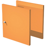 Lot de 2 portes 322 x 321 mm Orange