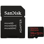 MicroSDXC SanDisk Extreme UHS I 128 Go microSDXC Doré, rouge