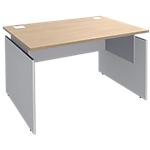 Bureau ajustable Adjust 1200 x 800 x 820 mm Imitation chêne, blanc