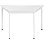 Table de réunion modulaire trapèze Domino 140 x 70 x 74 cm Blanc