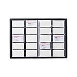 Album 400 cartes de visite Office Depot 2537 01 31 (H) x 23 (l) x 0,3 (P) cm Noir