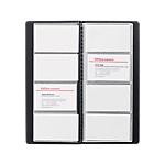 Album 96 cartes de visite Office Depot 2536 01 25,5 (H) x 11,5 (l) x 0,3 (P) cm Noir
