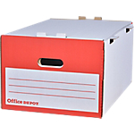 Boîte d'archivage Office Depot Filestore 37,8 x 54 x 27,5 cm Blanc 10 Unités