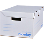 Boîte d'archivage Niceday Superposable 25,5 (H) x 54,5 (l) cm Blanc 10 Unités