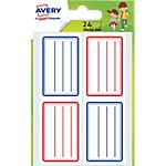 Étiquettes Avery Scolaires Assortiment 24