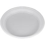 Assiettes jetables Plastique PAPSTAR Blanc   100 Unités