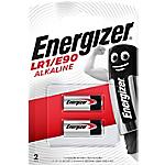 Piles bouton Energizer Alcaline LR1   2 Unités