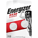 Piles bouton Energizer Lithium 3V CR2430   2 Unités