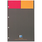 Bloc de bureau OXFORD International A4+ Quadrillé Noir   80 Feuilles