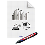 Rouleau de 25 feuilles flipchart Magic Chart 60x80 marquage permanent, version quadrillée