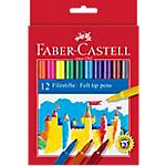 Feutres Faber Castell Assortiment   12 Unités