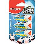 Gommes Maped Lapins crétins Assortiment   3 Unités