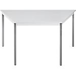 Table de réunion modulaire trapèze Domino 1400 x 700 x 740 mm Gris
