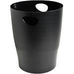 Corbeille à papier Exacompta Classic Noir 26,3 x 26,3 x 33,5 cm