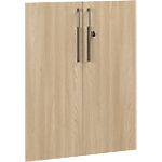 Lot de 2 portes Gautier Office Vermont 800 x 20 x 1 010 mm Imitation chêne