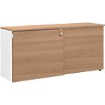 Crédence à portes coulissantes Gautier Office Top Line 450 mm Imitation merisier, blanc