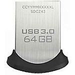 Clé USB SanDisk Ultra Fit 64 Go Noir